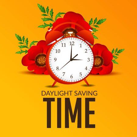 Daylight Saving creative concept design Ilustração