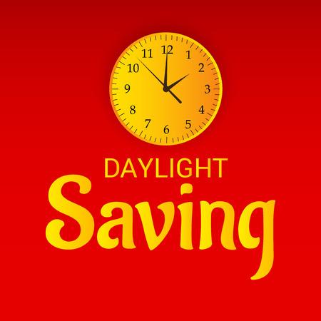 Daylight Saving creative concept design Ilustrace