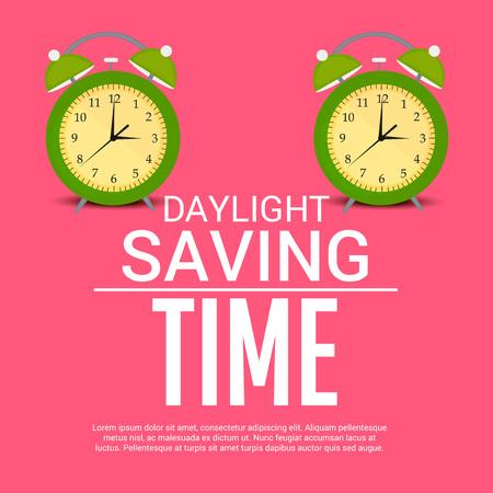 Daylight Saving creative concept design Çizim