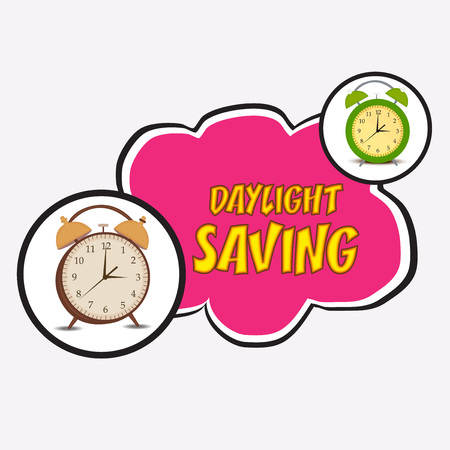 Daylight Saving creative concept design