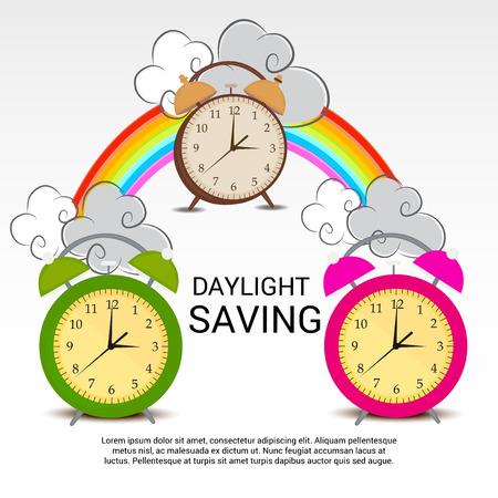 Daylight Saving. Stock Illustratie