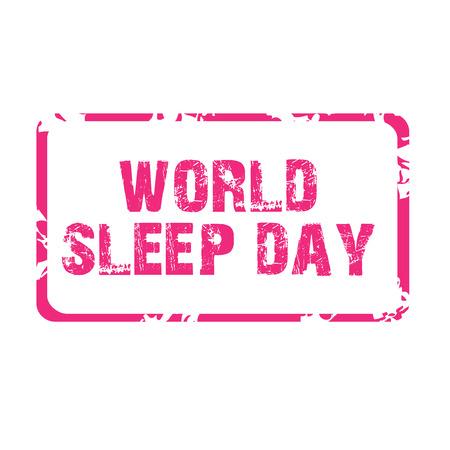 World Sleep Day. Illustration