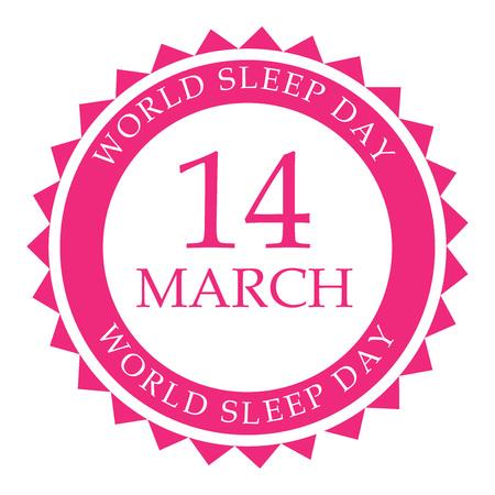 World Sleep Day. 向量圖像