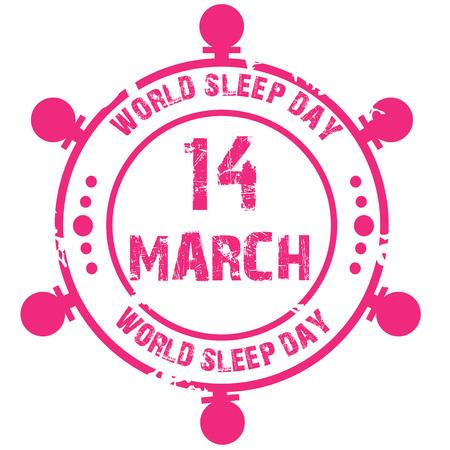 World Sleep Day. 일러스트