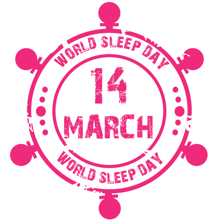 World Sleep Day. 向量圖像