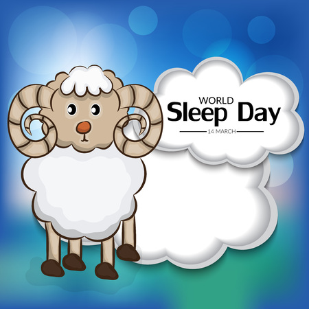 World Sleep Day. Illustration