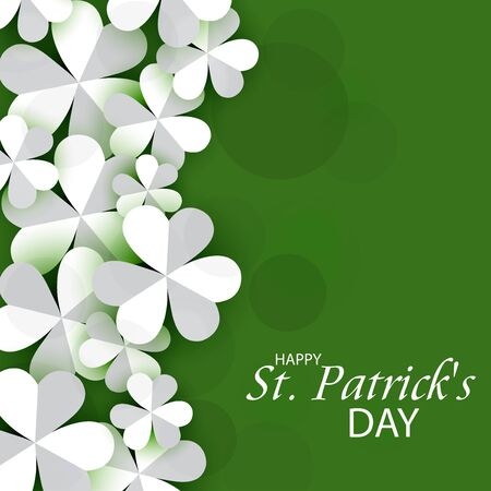 St. Patricks Day isolated on green background.