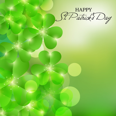 St. Patrick's Day isolated on green background.