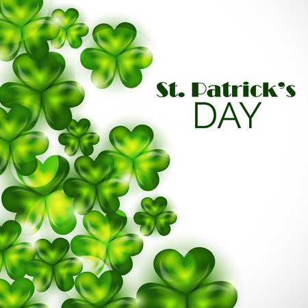 St. Patrick's Day isolated on plain background. 일러스트