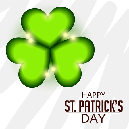 St. Patrick's Day isolated on plain background. Ilustração