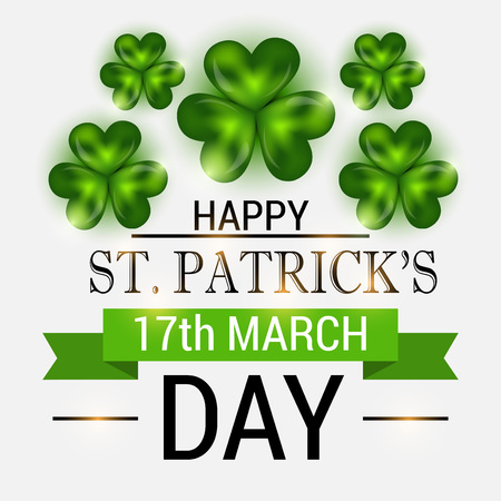 St. Patrick's Day isolated on plain background. Stock Illustratie