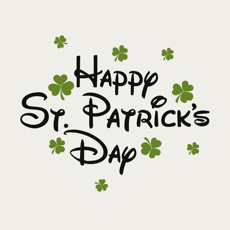 St. Patrick's Day isolated on plain background. Banco de Imagens - 95925458