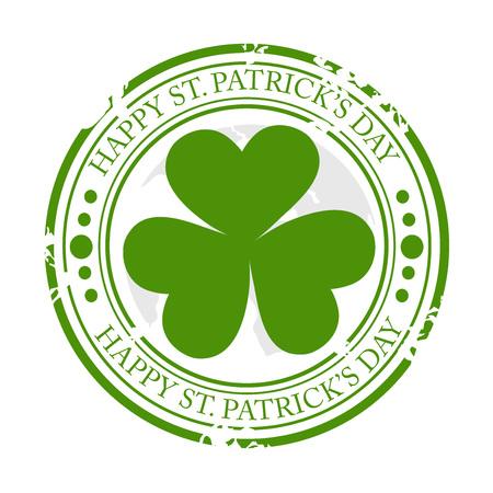 St. Patricks Day isolated on plain background. Illustration
