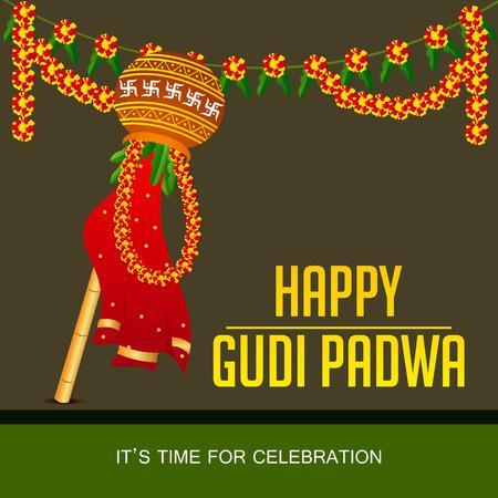 Happy Gudi Padwa. Ilustração
