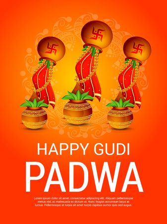Happy gudi padwa greetings with colorful festival elements happy gudi padwa greetings with colorful festival elements illustration stock vector 95998999 m4hsunfo