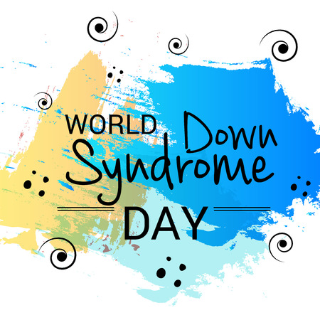 World Down Syndrome Day with yellow and blue background.