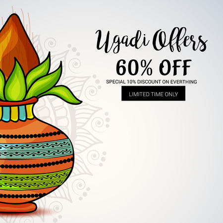 Happy Ugadi creative sale banner  concept design