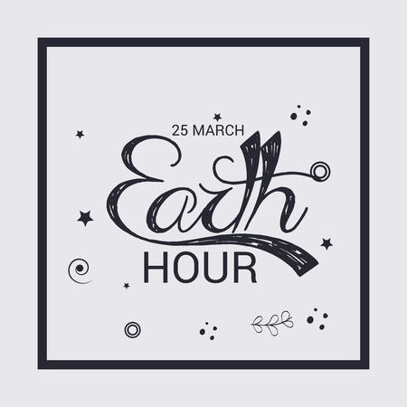 Earth Hour isolated on plain background.  イラスト・ベクター素材