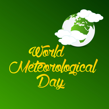 World Meteorological Day isolated on plain background. 向量圖像