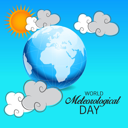 World Meteorological Day isolated on plain background. 向量圖像