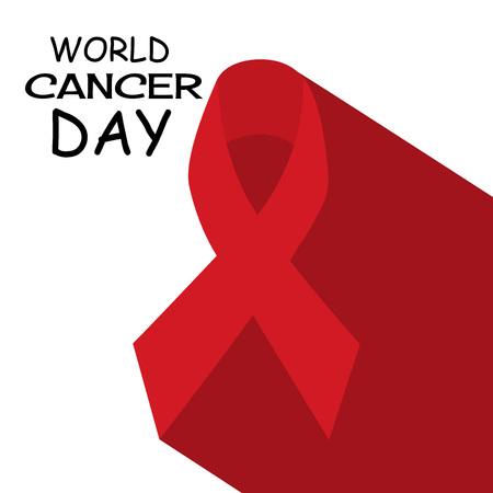 World Cancer Day design concept. Illustration