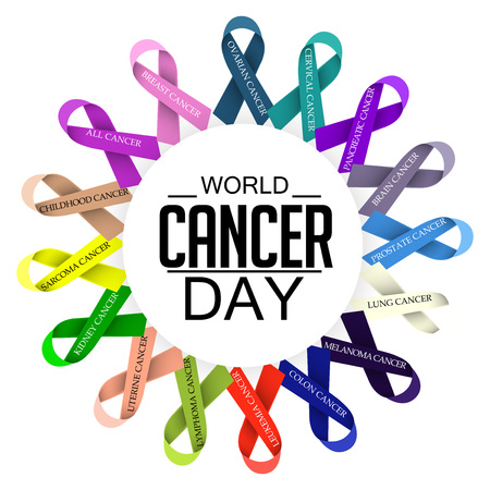 World Cancer Day isolated on plain background.