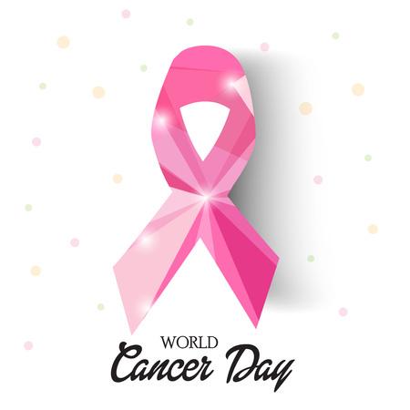 World Cancer Day isolated on plain background.
