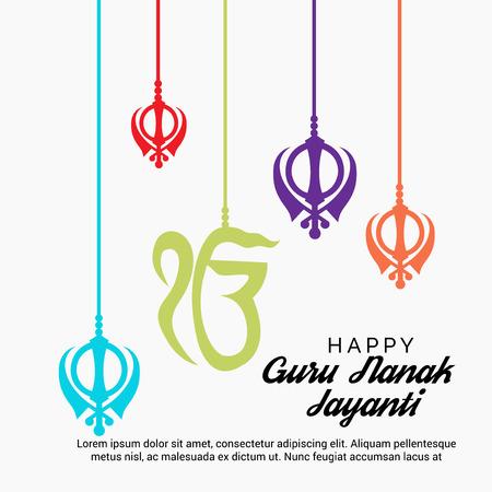 Happy Guru Nanak Jayanti. Stock Vector - 97531159