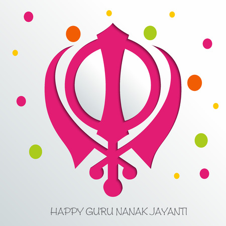 Happy Guru Nanak Jayanti. Stock Vector - 97531336