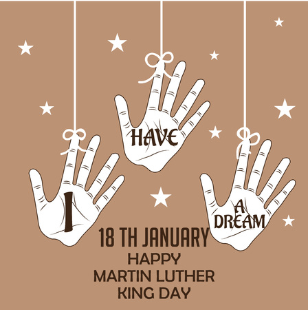 Martin Luther King Day. Vectores
