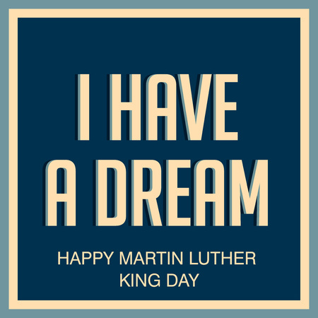 Martin Luther King Day. Illustration