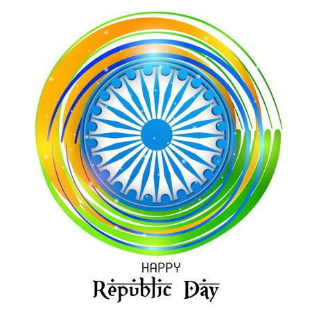 Happy Republic Day design. Illustration