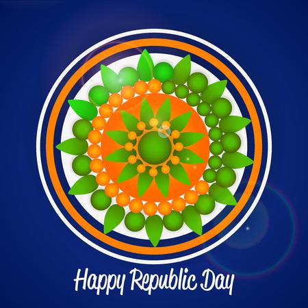 Happy Republic Day design. Vectores