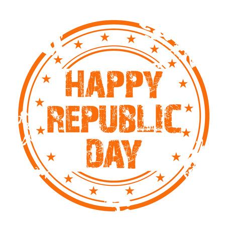 Happy Republic Day, stamp pattern celebration day