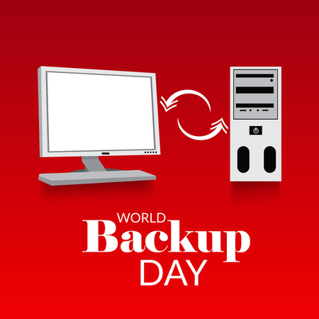 World Backup Day. 일러스트
