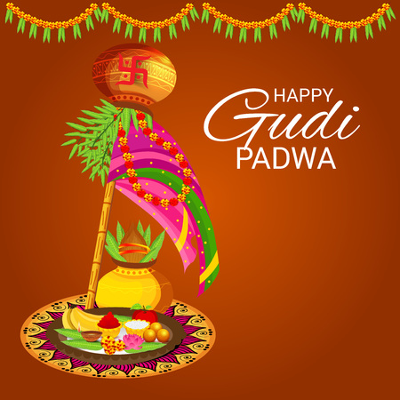 Happy Gudi Padwa. 向量圖像