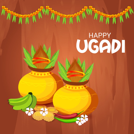 Happy Ugadi design Illustration
