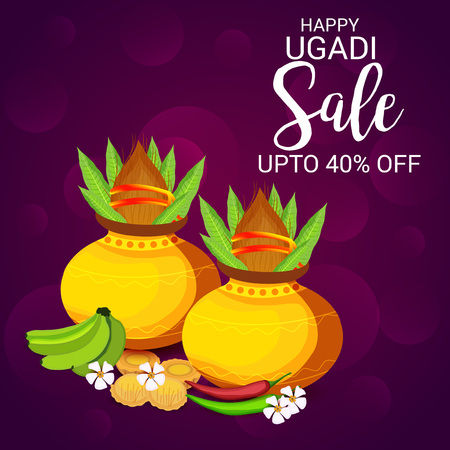 Happy Ugadi sale design
