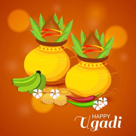 Happy Ugadi poster design. 일러스트