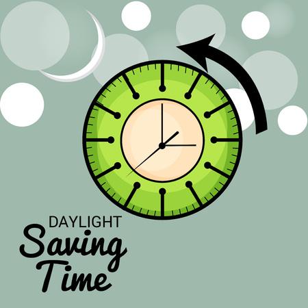 Daylight Saving Time Concept Illustration.