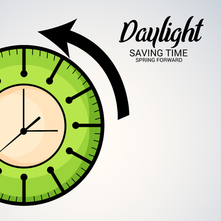 Daylight Saving Time concept design. Illustration