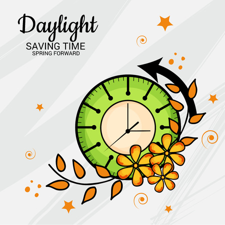 Daylight Saving Time Concept Illustration.