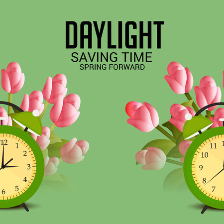 Daylight Saving Time. Stock Vector - 97531374