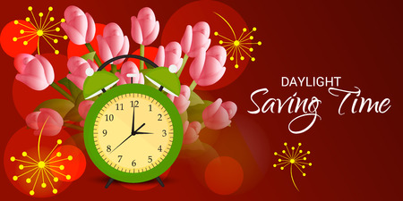 Daylight Saving Time banner poster background design