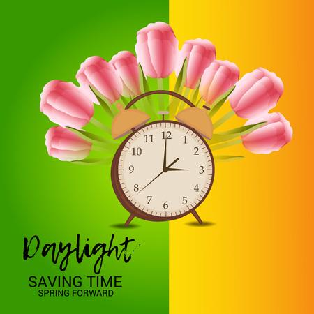 Daylight Saving Time banner poster background design