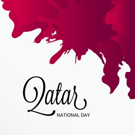 Qatar National Day card concept design