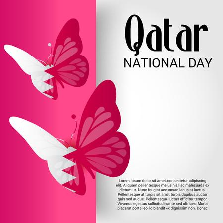 Qatar National Day. Ilustração