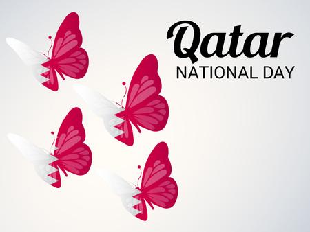 Qatar National Day. 일러스트
