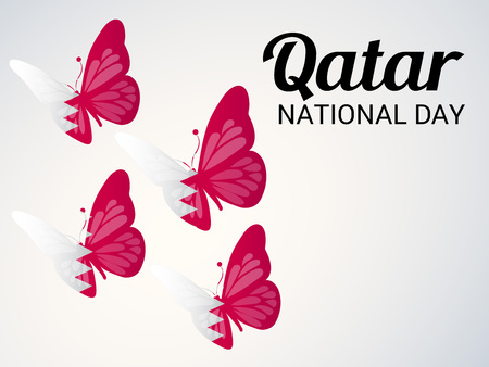 Qatar National Day. Ilustrace