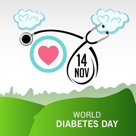 World Diabetes Day. Çizim